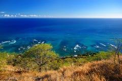 Case del Oceanfront sull'isola di Oahu Fotografia Stock Libera da Diritti