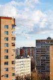 Case del piano nel quartiere residenziale urbano Fotografie Stock Libere da Diritti