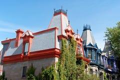 Case del Victorian a Montreal Fotografia Stock