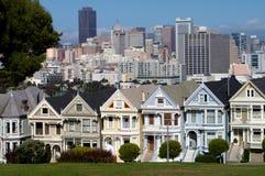 Case del Victorian a San Francisco Fotografia Stock Libera da Diritti