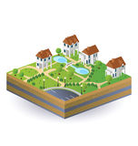 Case del villaggio Fotografia Stock