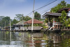 Case dell'acqua di Bangkok fotografie stock libere da diritti