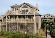 Case dell'affitto di vacanza di Oceanside Fotografie Stock