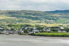 Case dell'Irlandese della spiaggia Fotografia Stock Libera da Diritti