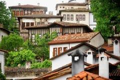 Case dell'ottomano di Safranbolu vecchie Fotografia Stock Libera da Diritti