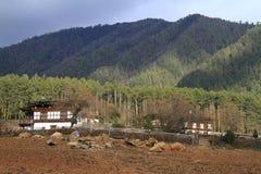 Case della campagna, Bhutan Immagine Stock Libera da Diritti