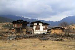 Case della campagna, Bhutan Fotografia Stock