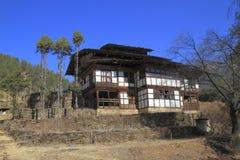 Case della campagna, Bhutan Immagini Stock Libere da Diritti