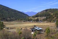 Case della campagna, Bhutan Fotografia Stock Libera da Diritti
