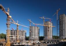 case della costruzione sotto Fotografia Stock Libera da Diritti