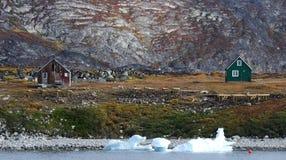 Case 2 della Groenlandia Immagini Stock