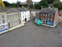 Case della miniatura del villaggio modello Fotografie Stock Libere da Diritti
