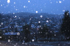 Case della neve Immagini Stock Libere da Diritti