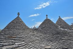 Case della pietra di Trulli di Alberobello La Puglia, Italia del sud Fotografia Stock Libera da Diritti