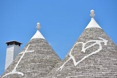 Case della pietra di Trulli di Alberobello La Puglia, Italia del sud Immagine Stock Libera da Diritti