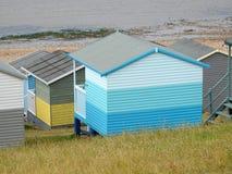 Case della spiaggia delle capanne della spiaggia di festa Fotografie Stock Libere da Diritti