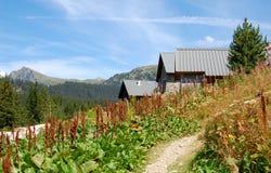 Case delle montagne nelle alpi francesi Fotografia Stock Libera da Diritti