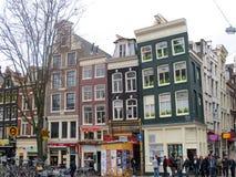 Case di Amsterdam e negozi 0869 Fotografia Stock Libera da Diritti