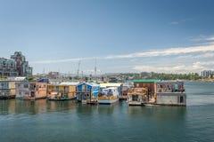 Case di barca nell'isola di Vancouver Fotografia Stock Libera da Diritti