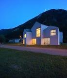 Case di campagna di notte Fotografia Stock