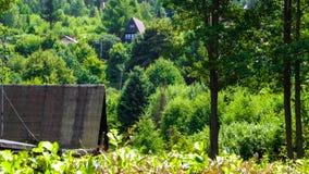 Case di campagna in Krzeszna, regione casciubica, Polonia fotografia stock