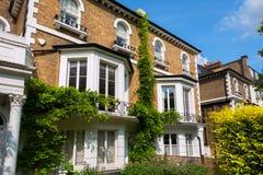 Case di città. Londra, Inghilterra Fotografia Stock