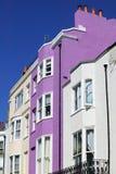 Case di città a terrazze Colourful Fotografie Stock Libere da Diritti