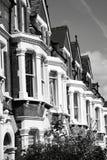 Case di città a terrazze vittoriane Fotografia Stock