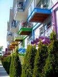 Case di città in Victoria, Canada Immagini Stock