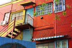 Case di colore di Caminito in Argentina fotografie stock