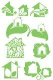 Case di Eco Fotografie Stock Libere da Diritti