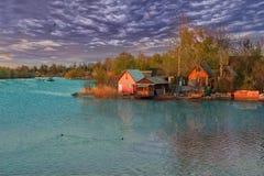 Case di fine settimana e del lago Fotografie Stock Libere da Diritti