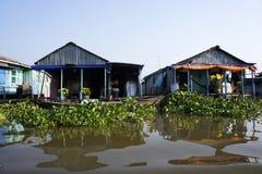 Case di galleggiamento Fotografia Stock