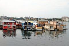 Case di galleggiamento - Victoria - BC - il Canada fotografia stock