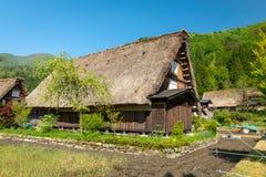 Case di Gassho-zukuri nel villaggio di Gokayama Gokayama è stato insc Fotografia Stock Libera da Diritti
