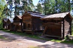 Case di legno Fotografia Stock