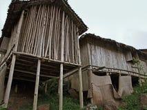 Case di legno in Africa fotografie stock