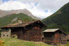 Case di legno appassite Fotografia Stock