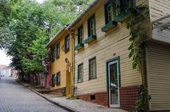 Case di legno, Costantinopoli Immagini Stock