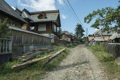 Case di legno tipiche fotografia stock libera da diritti