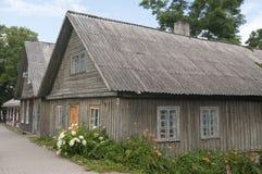 Case di legno in Trakai Immagine Stock