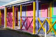 Case di legno variopinte del cottage Fotografia Stock