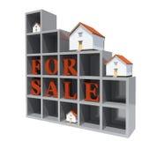 Case di modello di architettura rosse per la vendita Fotografia Stock