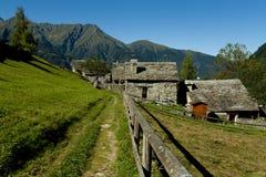 Case di pietra della montagna Fotografia Stock Libera da Diritti