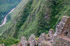 Case di pietra su una scogliera Fotografia Stock