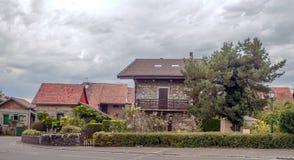 Case di pietra in un villaggio Fotografia Stock Libera da Diritti