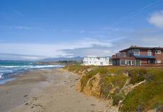 Case di spiaggia fotografie stock