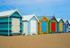 Case di spiaggia di Melbourne Immagini Stock