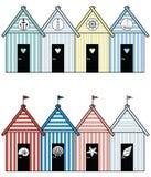 Case di spiaggia II Immagine Stock