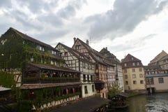 Case di Strasburgo, l'Alsazia, Francia Fotografie Stock